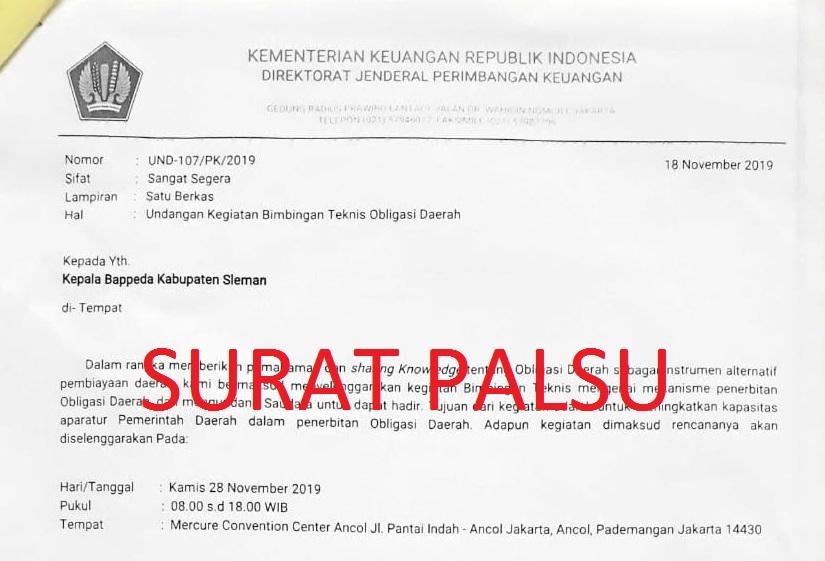 Surat Palsu