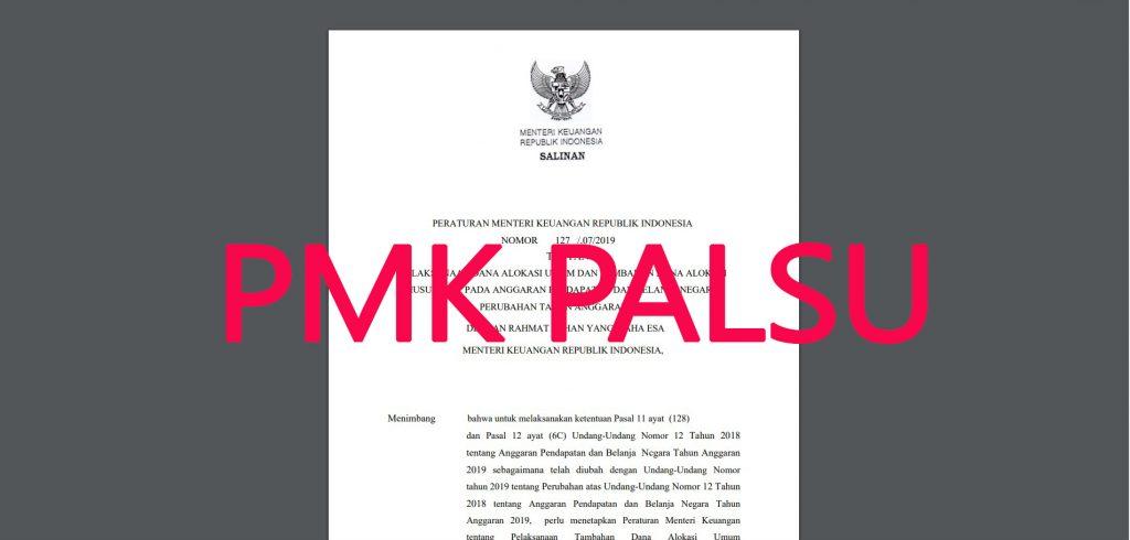 PMK Palsu