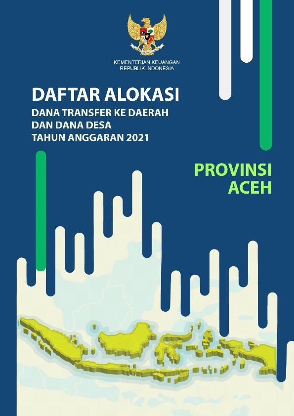 Daftar Alokasi TKDD 2021 Prov. Aceh
