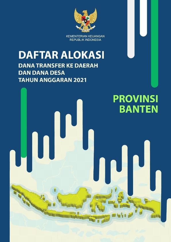 Daftar Alokasi TKDD 2021 Prov. Banten