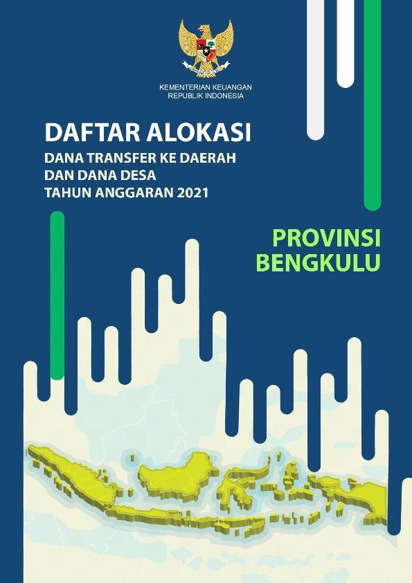 Daftar Alokasi TKDD 2021 Prov. Bengkulu