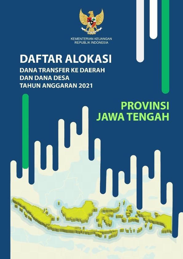 Daftar Alokasi TKDD 2021 Prov. Jawa Tengah