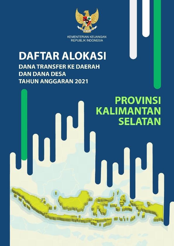 Daftar Alokasi TKDD 2021 Prov. Kalimantan Selatan