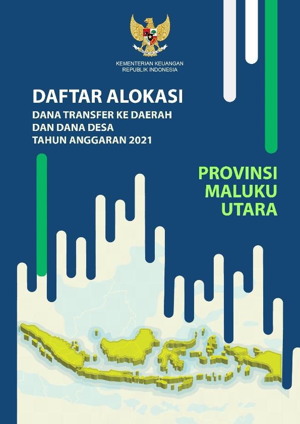 Daftar Alokasi TKDD 2021 Prov. Maluku Utara